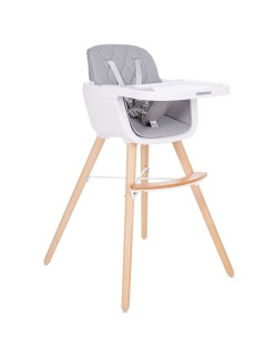 Kikkaboo Trona Woody Gris Evolutiva con asiento de polipiel