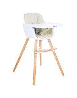 Kikkaboo Trona Woody Beige Evolutiva con asiento de polipiel