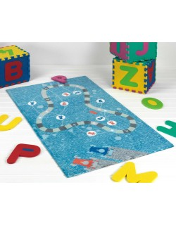 Alfombra Infantil De Juegos y Decoración  80 x 140 cm H04 – Gris