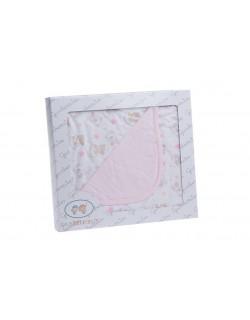 Arrullo Infantil Algodón Entretiempo 80x80 cm Color Rosa Gamberritos