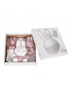 Tiamo NIJN629 pink baby rib  Personalizado- Set de regalo con sonajero, pañuelo y peluche a...