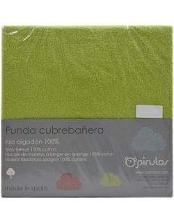 Funda Cubrebañera Rizo  50X70/80 cm Pistacho