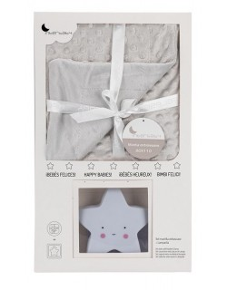 Manta Burbuja + Lamparita Modelo Estrella , 0.80 x 1.10 m Color gris