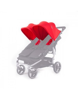 Set 2 capotas y 4 arneses para silla Easy twin de Baby Monsters color rojo