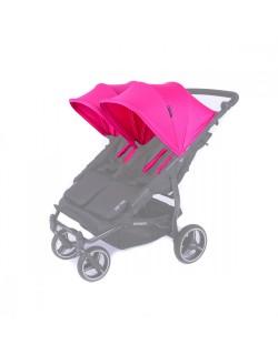 Set 2 capotas y 4 arneses  Reversible para silla Easy twin de Baby Monsters color fucsia