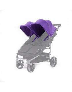 Set 2 capotas y 4 arneses  Reversible para silla Easy twin de Baby Monsters color lila