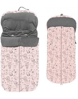 Saco Silla Paseo Universal animalitos rosa  Interbaby