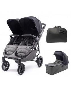 Silla Gemelar Easy Twin 4 Chasis Negro + 1 Capazo + Bolso de regalo Baby Monsters