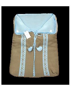 Saco capazo bebe universal de lana ( danielstore ) Color celeste-celestearena
