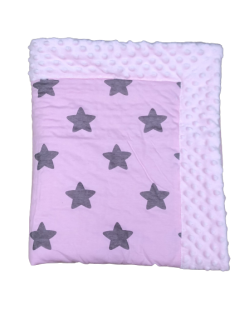 Cottonmoose Manta Minicuna Coche Capazo Color rosa