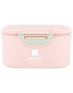 Dispensador de Polvos de Leche con Cuchara Color Pink de Kikkaboo
