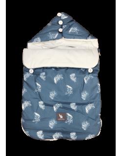 Cottonmoose-Saco Nana Capazo y Grupo 0 Bebe Universal Color azul