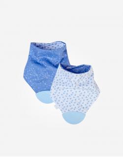 Saro-Bandana reversible con mordedor para bebé