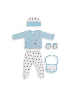 Primera Puesta Bebé  Set Regalo 5 Piezas Estrella Azul Don Algodón