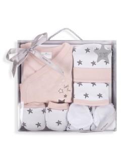 Primera Puesta Bebé  Set Regalo 5 Piezas Estrella Rosa Don Algodón