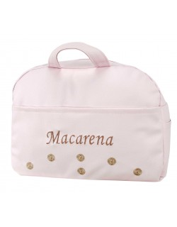 Bolso de Maternidad lactancia Carro Bebé de Polipiel Macarena SA Personalizado con nombre bordado...
