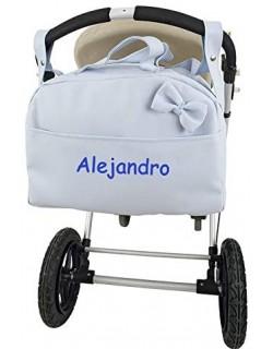 danielstore- Bolso Personalizado Bebe Carrito bebe con nombre bordado.