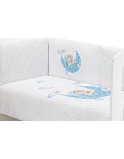 Edredón Cuna y Chichonera  Modelo Bear Sleeping azul 2021 Interbaby