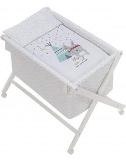 Vestidura Minicuna para bebé Indio blanco  Interbaby