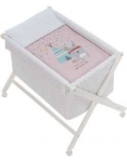 Vestidura Minicuna para bebé Indio rosa Interbaby