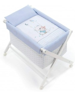 Vestidura Minicuna para bebé Oso Columpio azul Interbaby