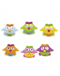 Juguetes de baño- Bote 6 unidades Motivo OWLSa