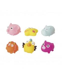 Juguetes de baño- Bote 6 unidades Motivo Animals Olmitos