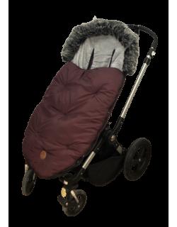 Baby Monsters Saco silla de paseo universal y bugaboo color burdeos