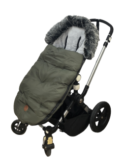 Baby Monsters Saco silla de paseo universal y bugaboo color verde forest