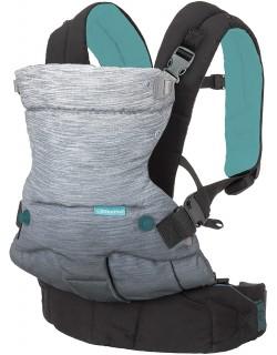 Infantino Go Forward Mochila portabebés ergonómica, interior acolchado Color gris